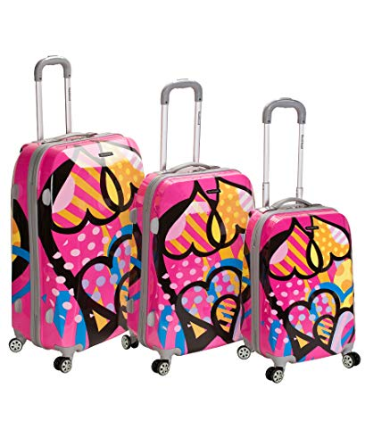 Rockland Vision Hardside Spinner Wheel Luggage, Love, 3-Piece Set (20/24/28)