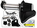 Cold Air Intake System with Heat Shield Kit + Filter Combo BLACK Compatible For 05-08 Dodge Magnum / 06-08 Dodge Charger / 05-10 Chrysler 300/08-10 Dodge Challenger HEMI 5.7L / 6.1L V8