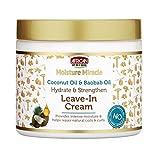Aceite de coco milagroso con el orgullo africano y aceite de baobab hidratado y fortalece las hojas en color crema