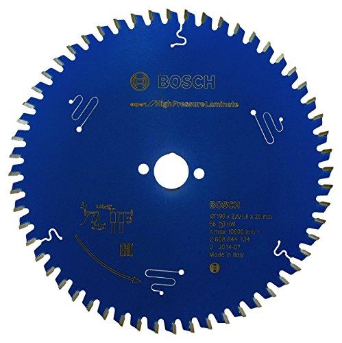 Bosch Professional Kreissägeblatt Expert for High Pressure Laminate (190 x 20 x 2,6 mm, 56 Zähne, Zubehör Kreissäge)