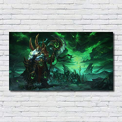 SDFSD Classic 3D MOBA Online Game Role Warrior Poster Game Room Home Decor Living Room Wall Art Picture Canvas Painting 80 * 140cm