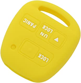 SEGADEN Silicone Cover Protector Case Skin Jacket fit for TOYOTA LEXUS 3 Button Remote Key Fob CV2422 Yellow