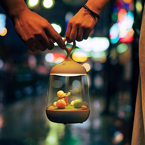 Led Nachtlicht Micro Landschaft Musik Licht Spieluhr Nachttischlampe Vogelkäfig Lampe Kinder Nachttischlampe Schlafzimmer Wiederaufladbare Ökologische Flasche Bunte Nachtlicht