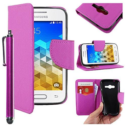 ebestStar - Cover Compatibile con Samsung Galaxy Trend 2 Lite SM-G318H, Galaxy V Plus Custodia Portafoglio Pelle PU Protezione Libro Flip + Penna, Viola [Apparecchio: 121.4 x 62.9 x 10.7mm, 4.0'']