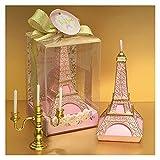 DOUYUAN Velas perfumadas sin Humo, Torre Rosa Creativo, Fiesta de Boda romántica Cumpleaños Día de San Valentín Decoración de la Vela Regalo (Color : White)