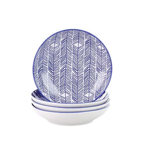 Bols /à Salade vancasso Saladier Porcelaine Bols /à Ramen- 1200ml 2 Pi/èces s/érie Macaron Style Japonais