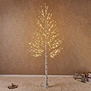 Hairui Pre Lit Birch Tree 8FT 240L for Christmas Festival Thanksgiving Wedding Party Decorations
