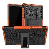 HoYiXi Tablette Hülle für Lenovo Tab M10 Plus 10.3 Stoßfeste Doppelte Schutzhülle mit Ständer Anti-Drop Cover Hülle für Lenovo Tab M10 Plus 10.3 TB-X606F/TB-X606X - orange