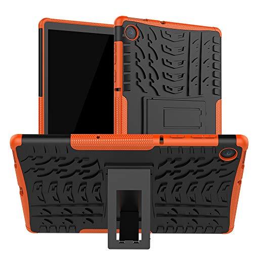 XINYUNEW Funda Lenovo Tab M10 FHD Plus (2nd Gen) 10.3 TB-X606F Case,360 Grados Protective Caso Carcasa Case Cover Skin móviles telefonía Carcasas Funda Case-Naranja