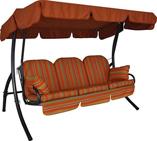 Angerer 325/073/11 Ibiza Hollywoodschaukel Marokko, Terracotta, 3-Sitzer,orange