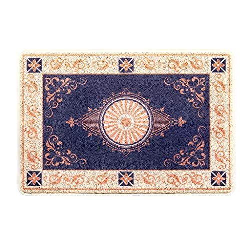 Learn More About CarPet Home Floor mat Kitchen Rubber Non-Slip (Color : Blue, Size : 80120cm)