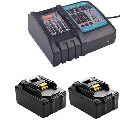 2 Batteries De Makita - - 1 Chargeur Dc18rc Lot de Charge