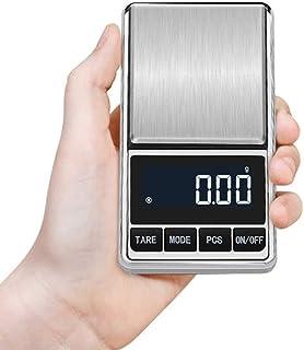 Koensky Báscula digital de acero inoxidable prémium con indicador LED, ultra fina (0,1 g a 500 g) para pesar con precisión el té de la farmacéutica de joyas