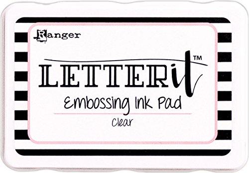Ranger Almohadilla de Tinta de grabación en Relieve Transparente, Material sintético, Blanco, 5.7 x 8.1 x 1.9 cm
