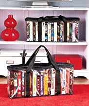 SET OF 2 VHS STORAGE CASES ; STORE UP TO 34 TAPES - Preserve And Organize Your Valued Collections With These Storage Organizer Sets