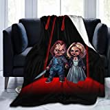 Kaopey Chucky Doll Throw Blanket Luxury Fleece Blanket for Bed Farmhouse Outdoor Living Room for All Season