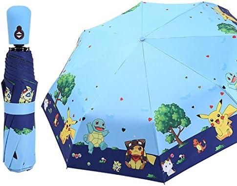 Rosavida Kids Folding Umbrella Automatic Open Cartoon UV Protection Travel Umbrella Compact product image