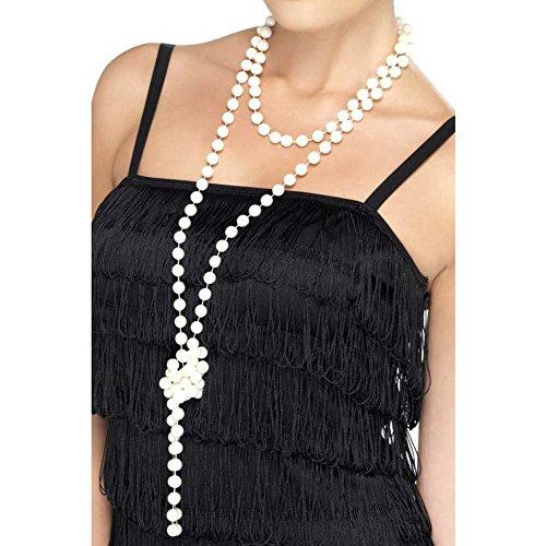 SMIFFYS Smiffy's Collana di perle, 180cm / 71inLunghezza Donna, Bianco, Taglia unica, 22515