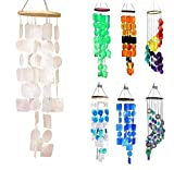 Bellaa 22913 Handmade Chimes Outdoor Large Memorial Wind Chimes Sympathy Gifts 26 inch White