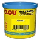 Clou Holzpaste zum Reparieren und Auskitten von Holzschäden schwarz, 150 g: gebrauchsfertige Paste...