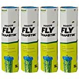 RESCUE! Non-Toxic TrapStik for Flies – Indoor Hanging Fly Trap - 4 Pack