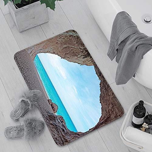 Rutschfeste Badematte 60 x 100 cm,Natürliche Höhle ations, verträumte Cara Luna-Höhle durch den ,Maschinenwaschbare Badematte, Badvorleger mit Wasserabsorbierenden,für Badewanne, Dusche und Badezimmer