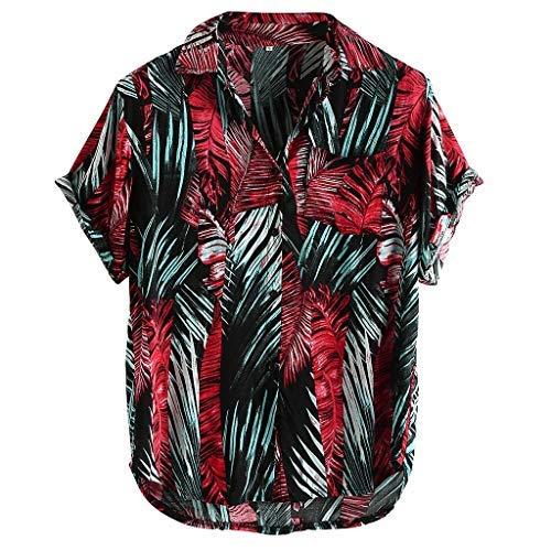Berimaterry Camisa Hawaiana para Hombre Shirt de Manga Corta Estampados de Palmeras, Barcos, Flores, Regular Casual, Camiseta Bonita y Cómoda para Verano, Diversos Colores y Tallas Formales Tops