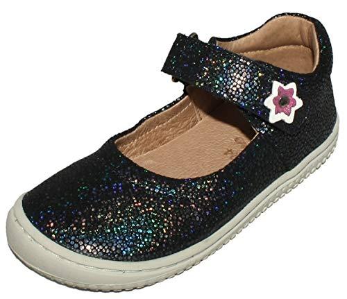 Filii Ballerina Schuhe/Barfußschuhe in Navy Glitter aus Leder Modell Elsa20322 (Numeric_27)