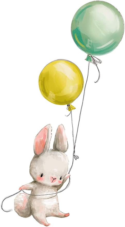 31 opinioni per dekodino® Adesivo murale acquerello animali coniglietto con palloncini vivaismo