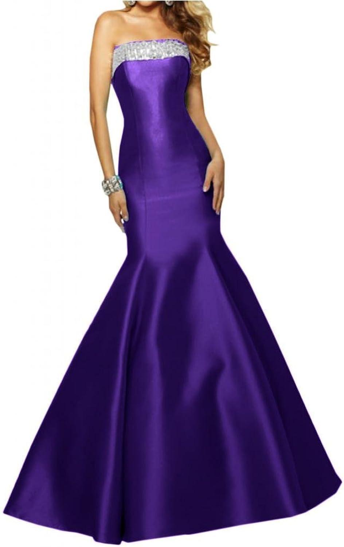 Angel Bride 2015 Stylish Mermaid Satin Eveing Dresses Strapless Prom Gowns