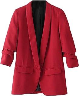 maweisong 女性スーツコート事務所ブレザーオープンフロントジャケット