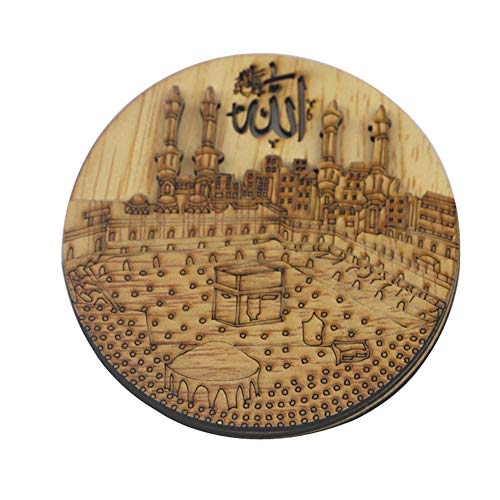 Decoración De Eid Eid Mubarak Decoración del Refrigerador Etiqueta Engomada De Madera Nevera Eid Mubarak Magnética Nevera Decoración Style1