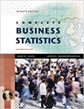 Complete Business Statistics [Mcgraw-Hill/Irwin Series] by Aczel, Amir, Sounderpandian, Jayavel [McGraw-Hill/Irwin,2008] [Hardcover] 7TH EDITION