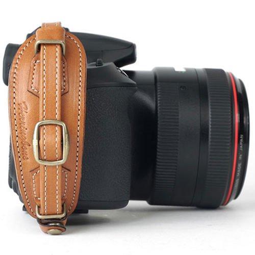 Herringbone Heritage Type2 DSLR SLR Camera Leather Hand Grip Strap Camel Brown