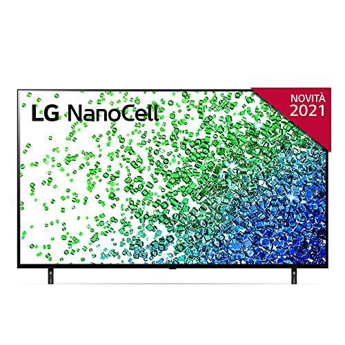"""LG NanoCell 55NANO806PA Smart TV LED 4K Ultra HD 55"""" Serie Nano 80, con Wi-Fi, Processore Quad Core 4K con AI, Nano Color, Local Dimming, FILMMAKER MODE, HDR 10 Pro, Google Assistant e Alexa Integrati"""