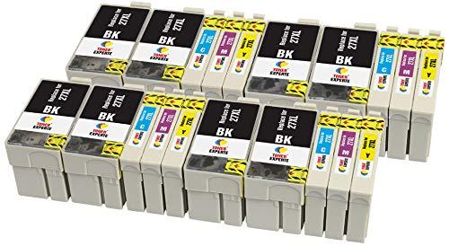 27XL 27 XL TONER EXPERTE 20 Cartuchos de Tinta compatibles con Epson Workforce...