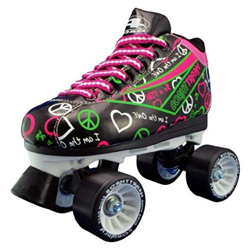 Womens and Children Roller Skates Size 1-10 Black Pacer Heart Throb