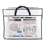 Homescapes Couette Garnissage plumes et duvet d'oie 13,5 TOG 100% coton Anti-acarien...