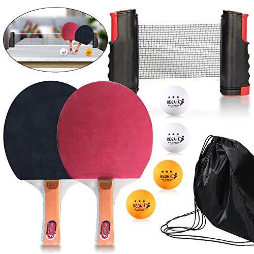 Myhozee - Set de tenis de mesa portátil