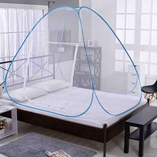 Kingkun Portable Folding Mosquito Net Bed Canopy Tent Camping Screen Houses and Rooms Freestand Bed Instant Gazebos Mosquito Net Bed Canopy for Patios,Baby Adults Trip,Random Color
