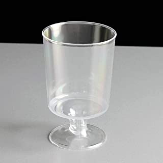 IndiaBigShop Disposable Wedding Party Tumblers - Crystal Clear - Washable And Reusable - Party Cups - Bpa Free Plastic Win...