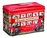 Churchill's London Bus Money Box Tin with Toffees 200 g [Grocery]