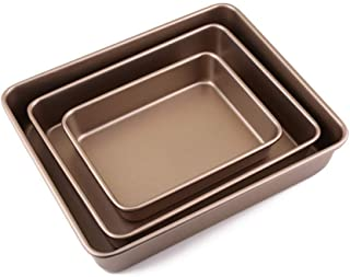 Baking Tray Pan Set, Baking Mould Non-stick Coating, Food Grade Carbon Steel Dishwasher Safe and Easy Clean Oven Baking Sh...