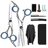 Haarschere, Scheren-Sets, Friseurscheren aus Edelstahl zum Ausdünnen und Strukturieren, Modellieren Professionelle Friseur-Sets