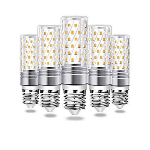 Bombilla LED E27 Maíz Blanco Frio, Wowatt 6000K Maíz Bombilla E27 16W equivalente a bombilla halógena de 120W 1600lm E27 LED Luz Haz de Ángulo 360° 230V No Regulable φ31 x 100mm Paquete de 5