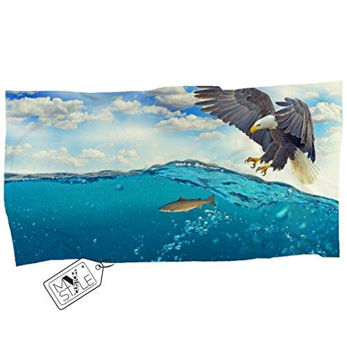 My Custom Style® Toalla de Playa en Microfibra Animal-águila 160x120cm