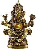 SpiceRack Estatua de Buda de Elefante Ganapati Ganesh Lord Ganesha de latón