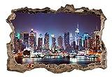 3D WANDILLUSION murando 210x150 cm Wandbild - Fototapete - Poster XXL - Loch 3D - Vlies Leinwand - Panorama Bilder - Dekoration - New York Stadt d-C-0056-t-a