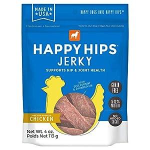 Happy Hips Happy Hips Grain Free Jerky Dog Treats with Glucosamine & Chondroitin – Chicken