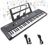 Digital Keyboard,Tastatur Klavier Digital Piano 61 Schlüssel Elektronische Klaviertastatur Einsteiger Tragbarer Elektronischer Tastatur mit...